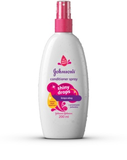 Johnson's® Shiny Drops condicionador sem enxaguar em spray com óleo de argan