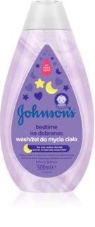 Johnson's Baby Bedtime gel limpiador para un sueño tranquilo para la piel del bebé
