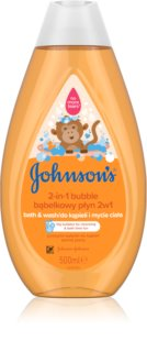 Johnson's Baby Wash and Bath bagno effervescente e gel detergente 2 in 1