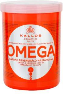 Kallos KJMN hranilna maska za lase z omega-6 kompleksom in makadamijevim oljem