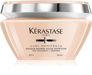 Kérastase Curl Manifesto Masque Beurre Haute Nutrition Ravitseva Naamio Aaltoileville Ja Kiharoille Hiuksille