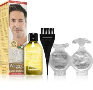 King Italy Water Color cor para cabelo permanente para homens