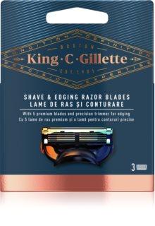 King C. Gillette Shave & Edging Razor heads cabeça refill para barbear