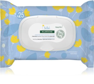 Klorane Bébé Calendula Gentle Cleansing Wipes for Children from Birth