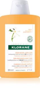 Klorane Monoï & Tamanu hranilni šampon za lase izpostavljene soncu