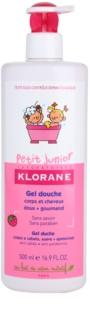 Klorane Junior Duschgel für Haare und Körper mit Himbeerduft
