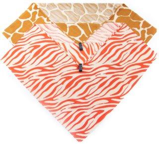 KLRK Home Wild Color Zebra&Giraffe Handtuch mit Kapuze 80x80 cm