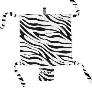 KLRK Home Wild B&W Zebra mazlicí dečka Gustav 80x46 cm