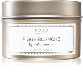 KOBO Motif Figue Blanche bougie parfumée en métal
