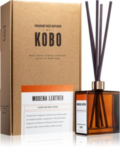 KOBO Woodblock Modena Leather aroma diffuser with filling
