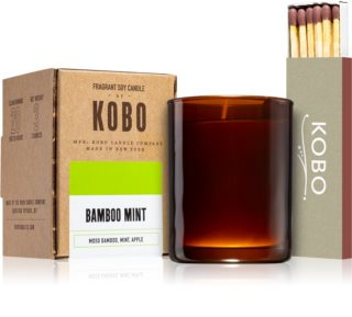 KOBO Woodblock Bamboo Mint votive candle