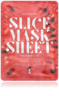 KOCOSTAR Slice Mask Sheet Watermelon maschera in tessuto illuminante e idratante