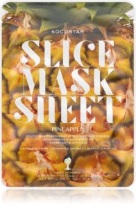 KOCOSTAR Slice Mask Sheet Pineapple Sheet maska za učvršćivanje
