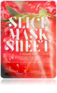KOCOSTAR Slice Mask Sheet Strawberry mascheraviso idratante in tessuto per una pelle splendente