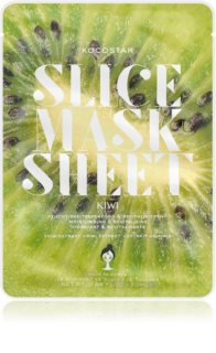 KOCOSTAR Slice Mask Sheet Kiwi Brightening Face Sheet Mask with Vitamine C
