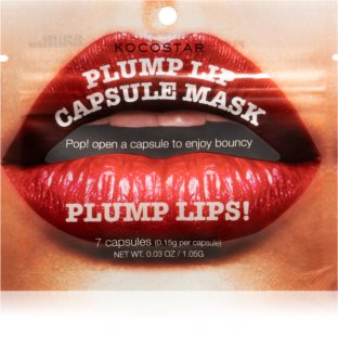 KOCOSTAR Plump Lip Capsule Mask Återfuktande läppmask I kapslar