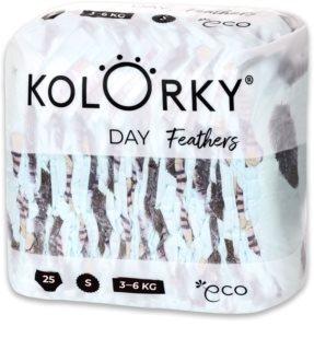 Kolorky Day Feathers EKO pleny velikost S 3-6 Kg