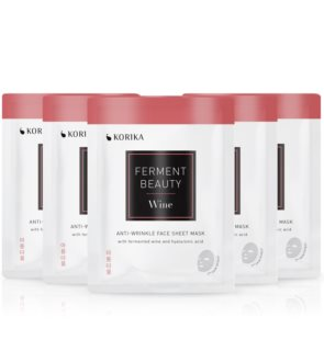 KORIKA FermentBeauty Wine and Hyaluronic Acid  face mask set at a reduced price