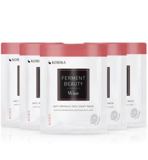 KORIKA FermentBeauty Wine and Hyaluronic Acid  комплект маски за лице на намалена цена