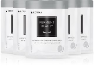 KORIKA FermentBeauty Yogurt and Hyaluronic Acid face mask set at a reduced price