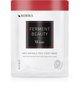 KORIKA FermentBeauty anti-wrinkle face sheet mask with fermented wine and hyaluronic acid