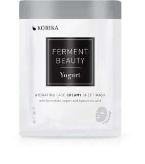 KORIKA FermentBeauty hydrating creamy face sheet mask with fermented yogurt and hyaluronic acid
