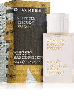 Korres White Tea, Bergamot & Freesia Eau de Toilette voor Vrouwen