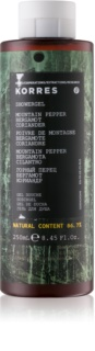 Korres Mountain Pepper, Bergamot & Coriander гель для душа для мужчин