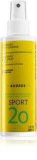 Korres Citrus Sport aceite solar en spray SPF 20