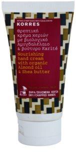 Korres Almond Oil & Shea Butter hranilna krema za roke
