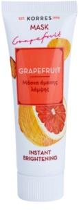 Korres Grapefruit λαμπρυντική μάσκα με άμεσο αποτέλεσμα