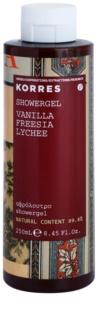 Korres Vanilla, Freesia & Lychee Douchegel  voor Vrouwen