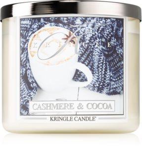 Kringle Candle Cashmere & Cocoa vonná svíčka I.
