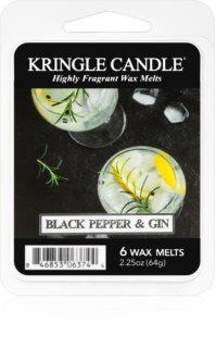 Kringle Candle Black Pepper & Gin cera para lámparas aromáticas