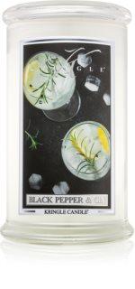 Kringle Candle Black Pepper & Gin bougie parfumée