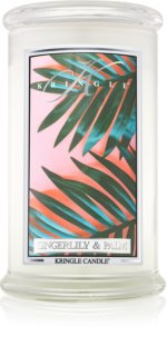 Kringle Candle Gingerlily & Palm bougie parfumée