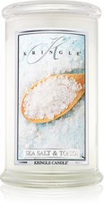 Kringle Candle Sea Salt & Tonka vonná sviečka