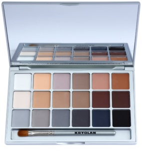 Kryolan Basic Eyes palette de fards à paupières 18 couleurs