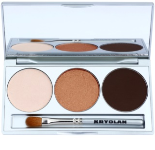 Kryolan Basic Eyes palette di ombretti con specchietto e applicatore