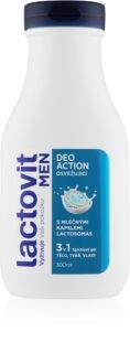 Lactovit Deo Action душ-гел за мъже 3 в 1