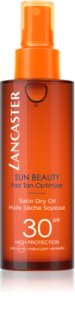 Lancaster Sun Beauty Satin Dry Oil Droge Olie voor Bruinen in Spray  SPF 30
