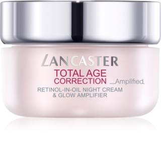 Lancaster Total Age Correction _Amplified нощен крем против бръчки  за озаряване на лицето