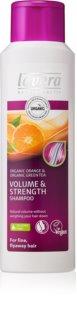 Lavera Volume & Strength šampón pre maximálny objem vlasov