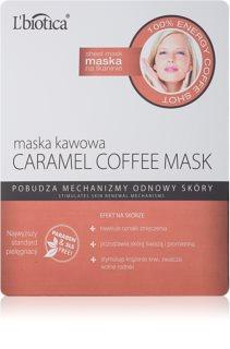 L'biotica Masks Caramel Coffee máscara em folha com efeito refrescante