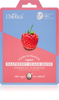 L'biotica Vegan Organic Raspberry sheet maska za blistav ten