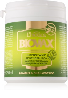 L'biotica Biovax Bamboo & Avocado Oil Regenerierende Maske für das Haar