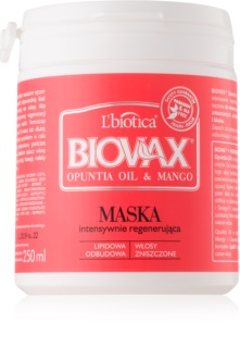 L'biotica Biovax Opuntia Oil & Mango Regenerating Mask For Damaged Hair