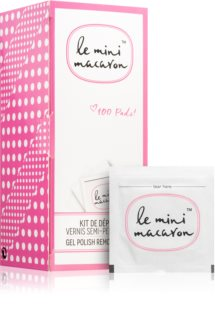 Le Mini Macaron Gel Polish Remover Pads Gel Varnish Remover Wipes