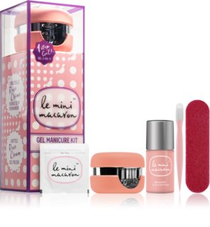 Le Mini Macaron Gel Manicure Kit Rose Creme Cosmetic Set VI. (for Nails) for Women