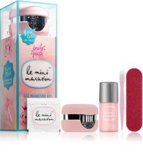 Le Mini Macaron Gel Manicure Kit Fairy Floss kosmetická sada VIII. (na nehty) pro ženy